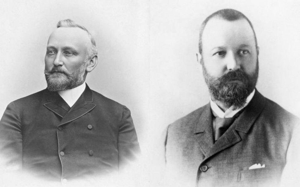 Dr. Alfred Kern and Edouard Sandoz