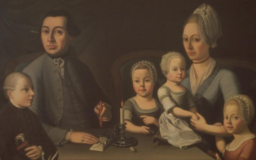 Painting of Johann Rudolf Geigy Gemuseus with Family