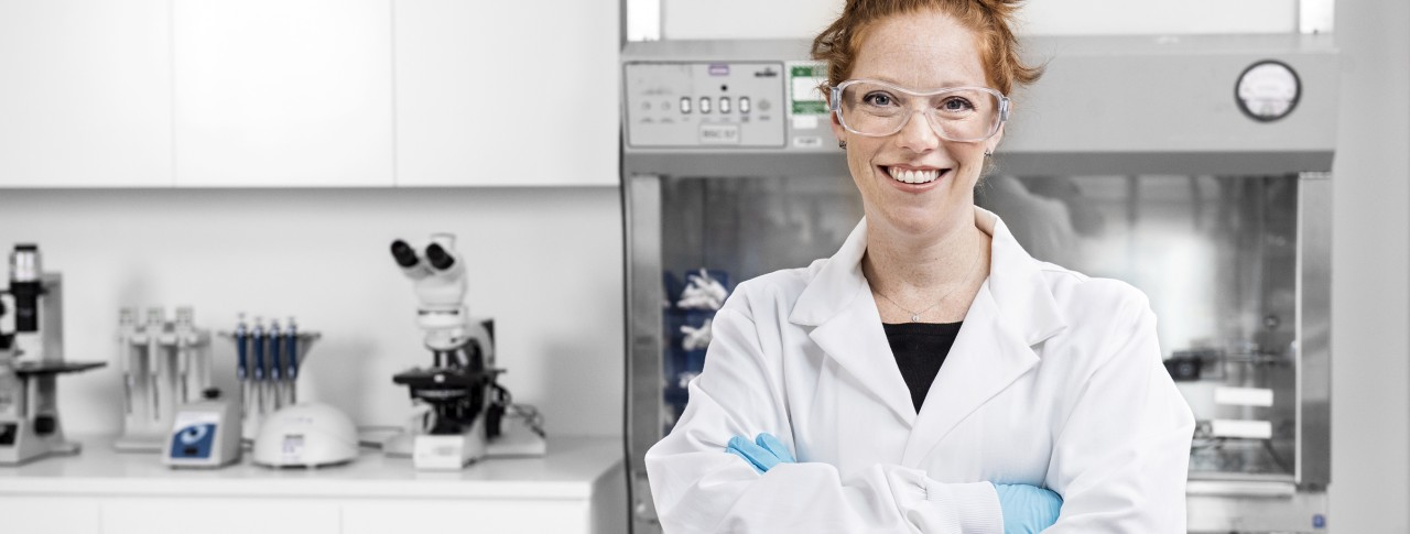 Woman scientist in lab